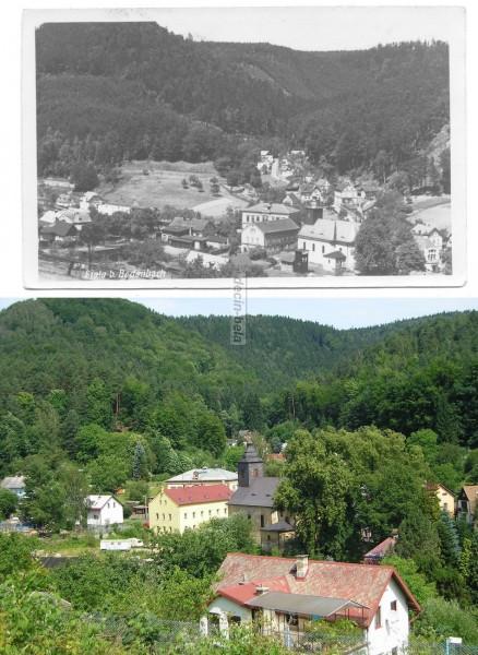 pohled na Bělou-kostel a bývalá škola