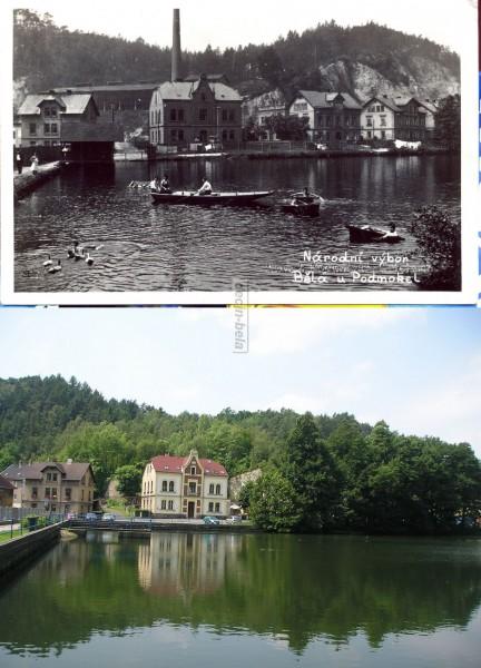 rybník a obecní úřad